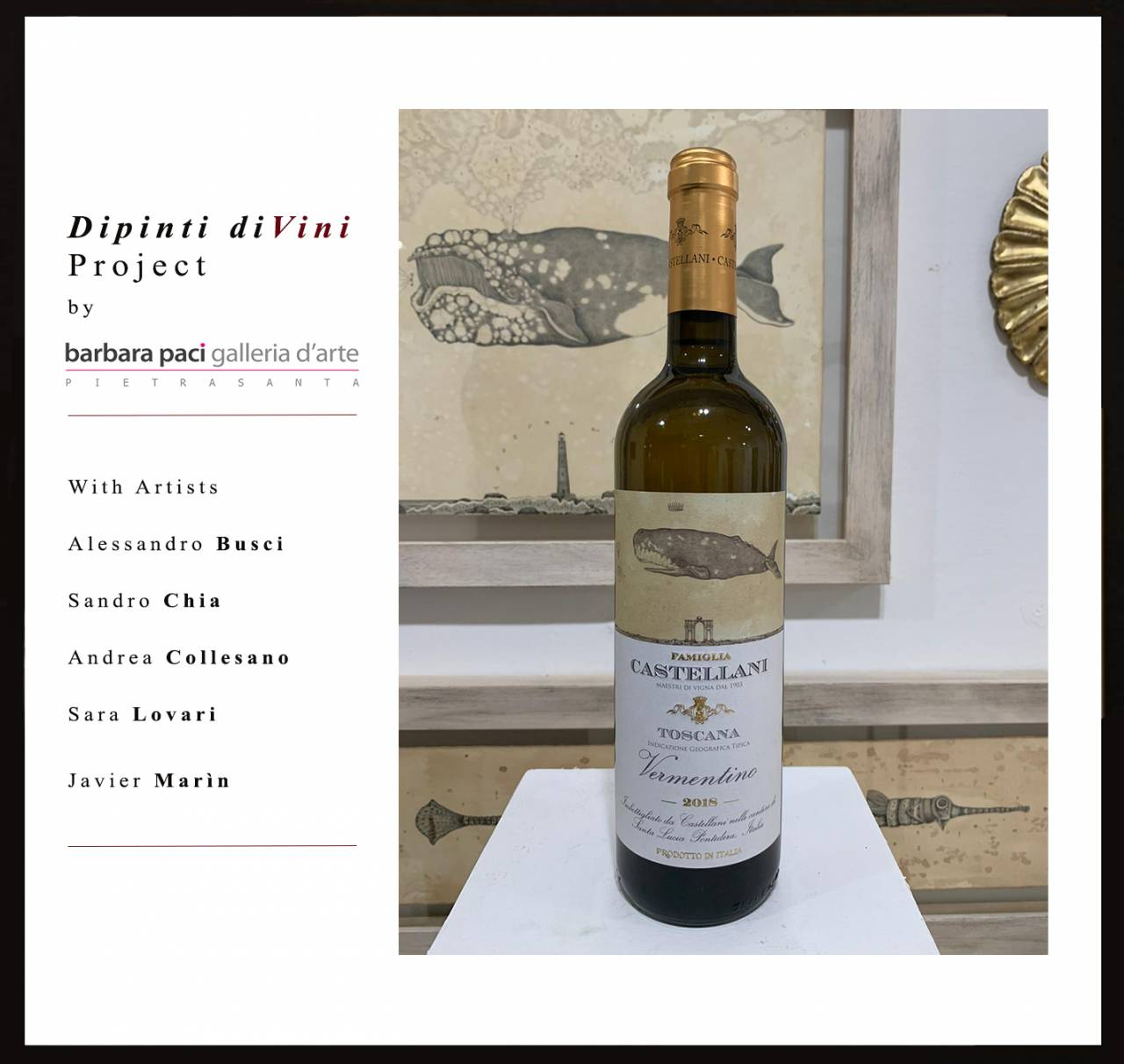 Dipinti diVini project - Barbara Pac Art Gallery - 2020